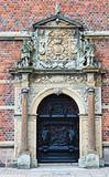 Door from Frederiksborg castle in Hillerod, Denmark