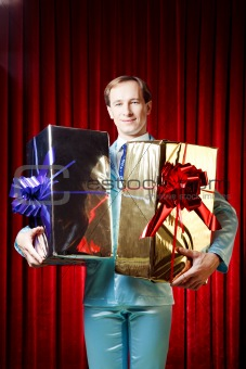 Man with the gifts