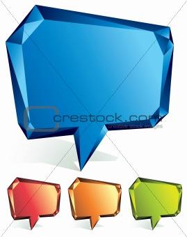 Crystal speech bubble.