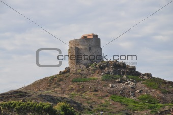 OLD TOWER, TARROS, SARDINIA, ITALY