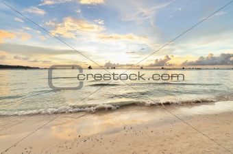 Beautiful sunset at Boracay