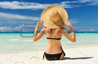 Girl on a beach