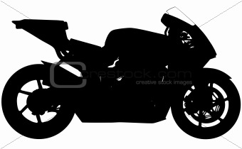 Sports motorbike silhouette