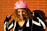 Cool girl with helmet