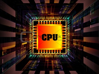 Fractal CPU Chip