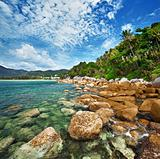 Coast of the tropical ocean - Thailand