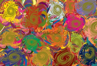 Background with abstract varicoloured elements