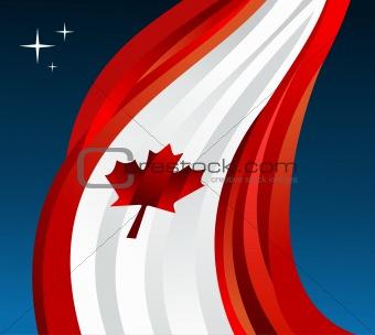 Canada flag illustration background
