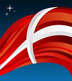 Denmark flag illustration background