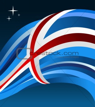 Iceland flag illustration background