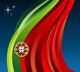 Portugal illustration flag background