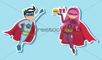 Superhero boys illustration