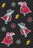 Cartoons superhero kids pattern