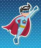 Superhero boy cartoon.