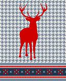 Christmas reindeer seamless pattern
