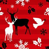 Christmas reindeer pattern background