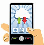 Cloud computing mobile device