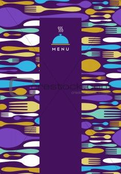 Food, restaurant, menu design in violet