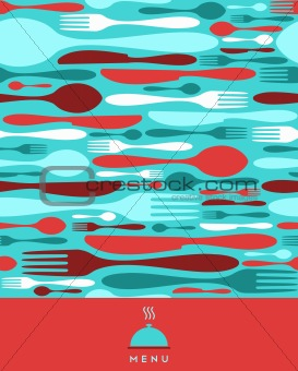Food, restaurant, menu design in red