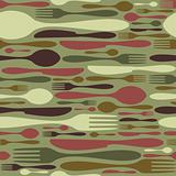 Seamless restaurant cutlery pattern