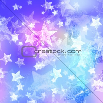 blue and pink stars