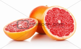 fresh fruits grapefruit in cut