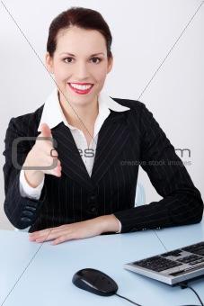 Greeting businesswoman.