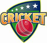 cricket sports ball stars shield