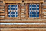 Log wall and windows