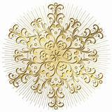 Gold snowflake