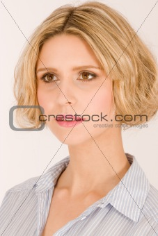 Portrait of beautiful blond