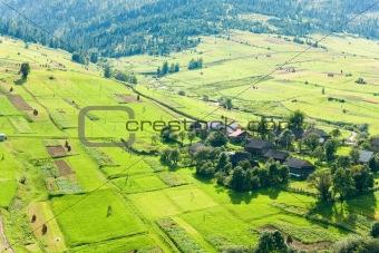 Small summer mountain village