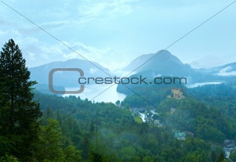 Cloudburst above Neuschwanstein Castle in Bavaria