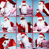Santa Claus in action