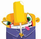 Fruit ice cream eater