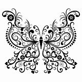 Vintage black butterfly