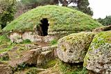 Circular tombs in the Etruscan Necropolis of Cerveteri