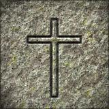 stone texture with a cross