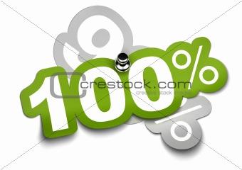 one hundred percent - 100%