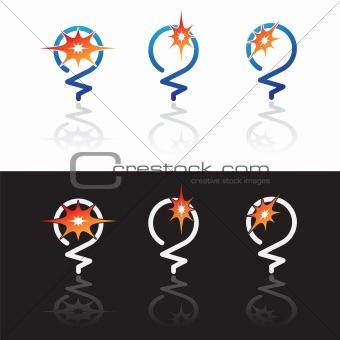 glowing light bulbs