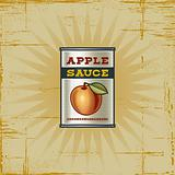 Retro Apple Sauce Can