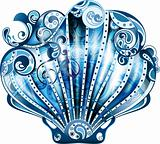 Abstract Blue Scallop