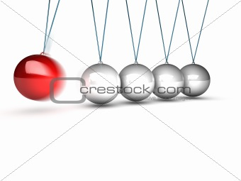 balancing balls newtons cradle