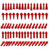 Vector set of red arrows
