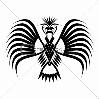 Eagle symbols and tattoo, vector illustration.