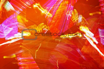 Fiery abstraction - graphic orange background