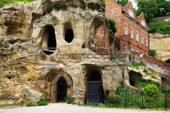 Caves at Nottingham, UK