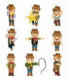 cartoon cowboy icon