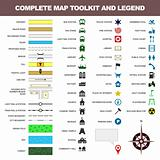 Map icon legend symbol sign toolkit