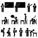 School Teacher Student class room